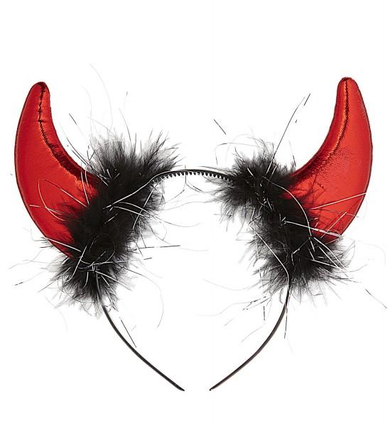 Teufelshörner rot metallic