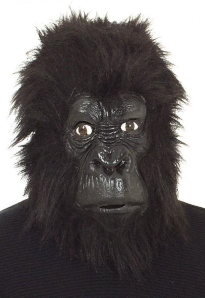 Gummimaske Gorilla schw.