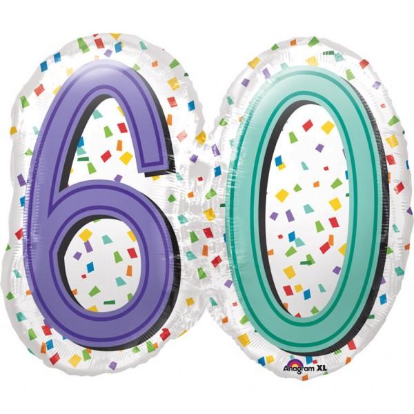 Großer 60er Geburtstagsballon