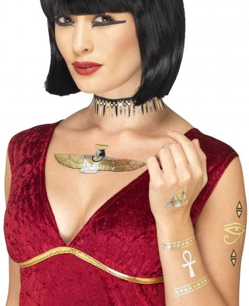 Ägyptische Motive Tattoos metallic