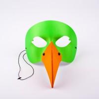 PAPAGEI Maske grün/orange