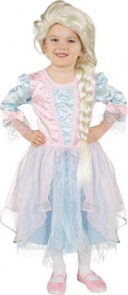 Prinzessin Kleid hellblau-rosa