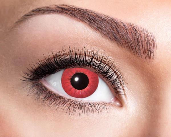 Kontaktlinsen electric red 3 Monate