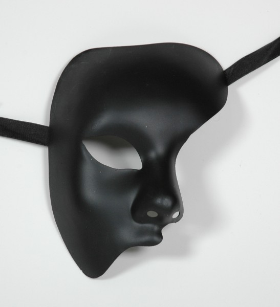Phantom der Oper Halbmaske schwarz