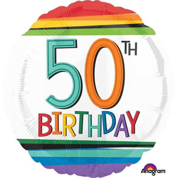 Regenbogen 50er Luftballon