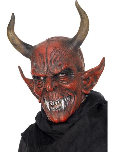 Teufel - Demon Maske mit Hörnern
