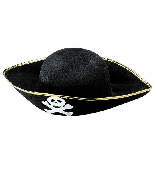 Piraten Hut für Erwachsene Goldborte