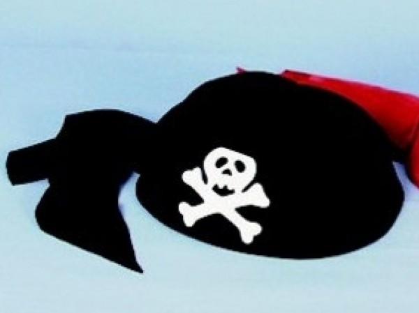 Piraten Kappe schwarz