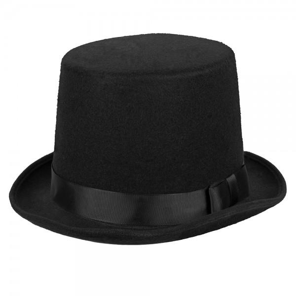 Zylinder Hut schwarz delux