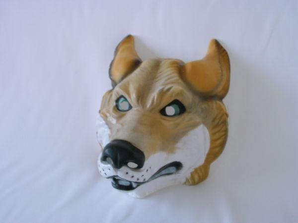 WOLF Maske Plastik für Erwachsene