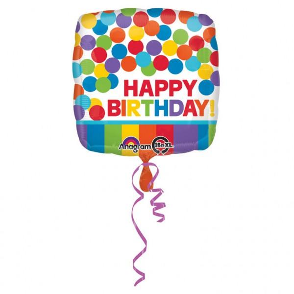 Happy Birthday Luftballon quadratische Form