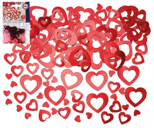 Rote Herz Konfetti MIX