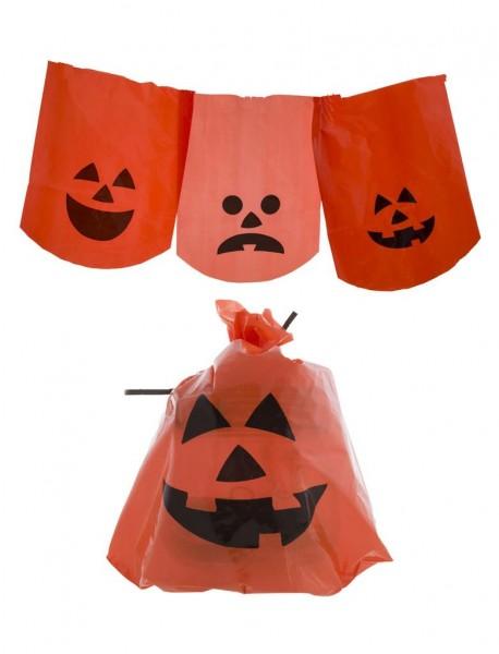 10 Stk. Kürbisbeutel zur Halloween Deko
