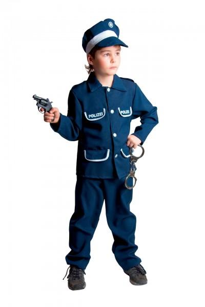 Polizei Uniform blau Größe 116 mit Kappe