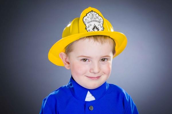 Feuerwehr Helm für Kinder gelb