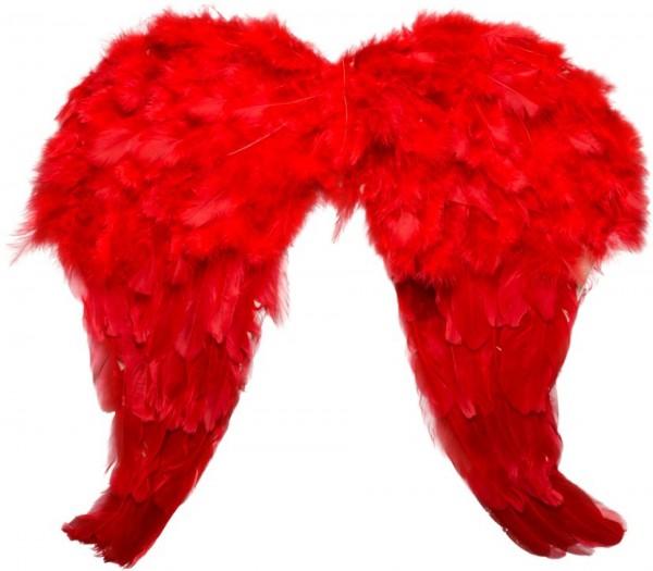 Teufelsflügel aus roten Federn ca. 50x40cm