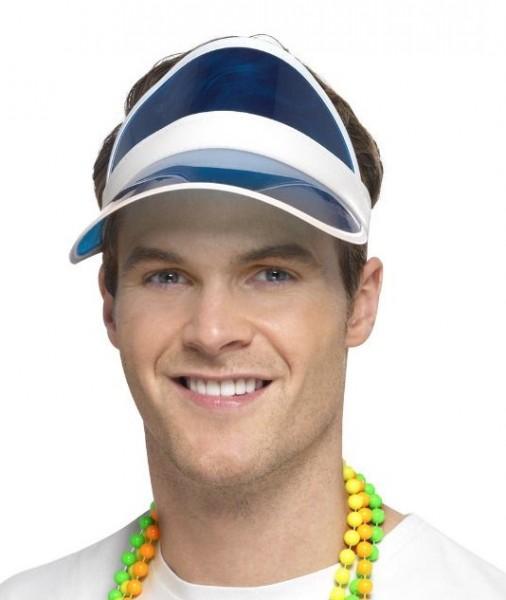 Sonnenschutz Visier mit Stirnband blau