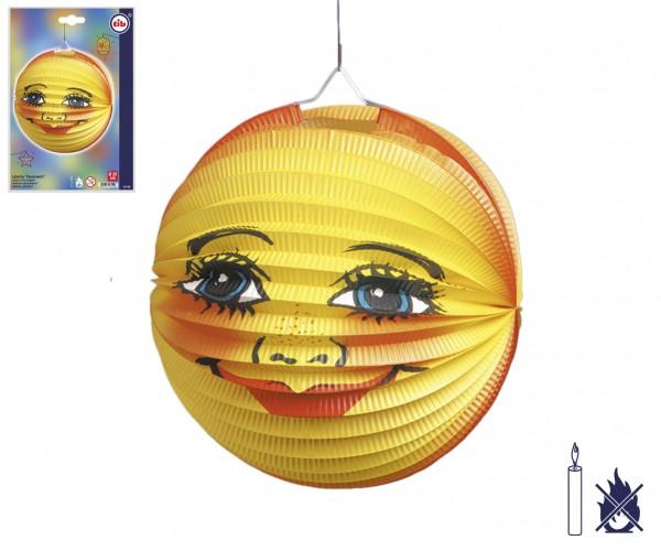 Lampion mit Sonne-Mond Gesicht rund D:25cm