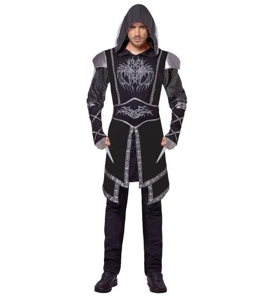Ritter Kostüm schwarz LARGE