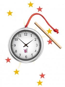 Zaubertrick Die magische Uhr