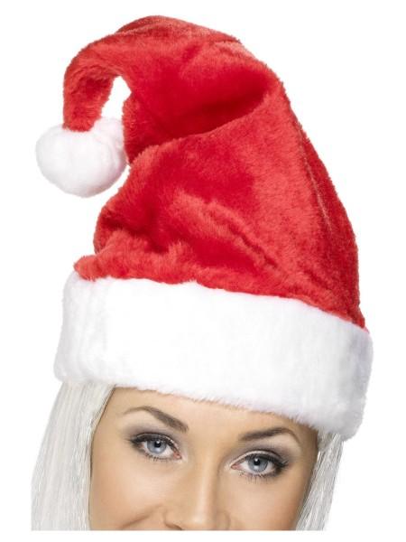 Weihnachtsmann Mütze Plüsch