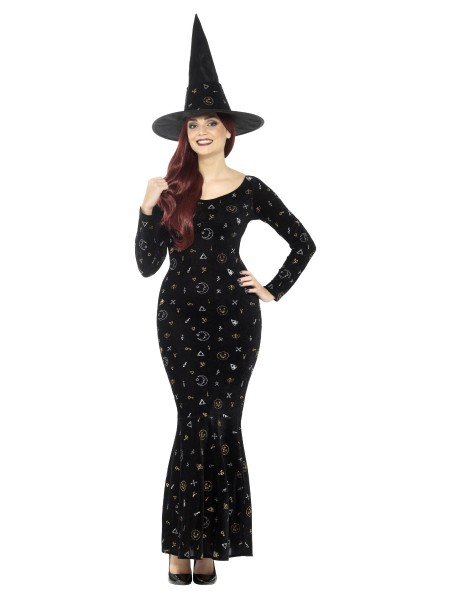 Langes Hexenkleid Black Magic Witch SMALL