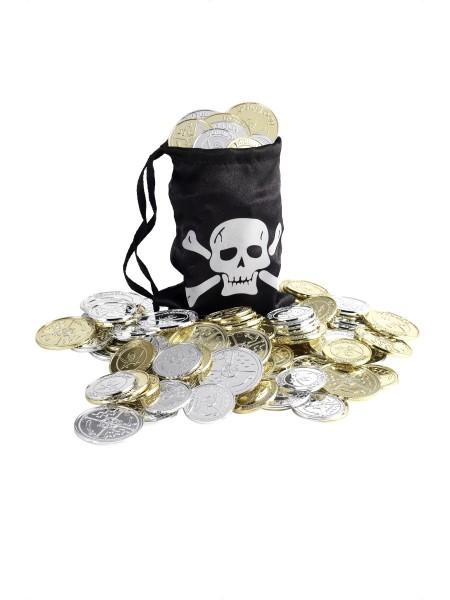 Piratenbeutel mit Münzen