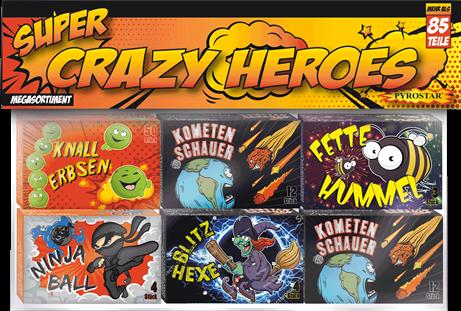 Crazy Heroes kleines Jugendfeuerwerk Set