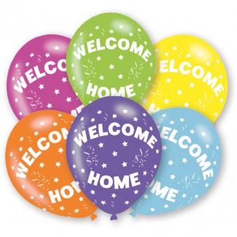 "6 Stück Luftballons ""welcome home"""
