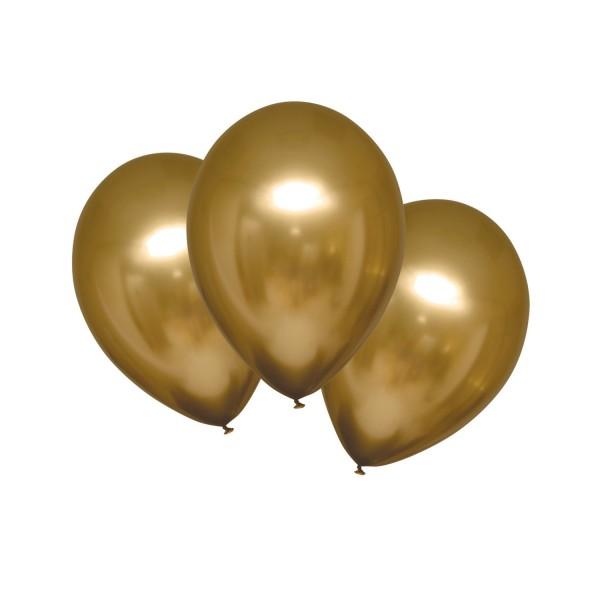 6er Packung goldene Luftballons 27,5cm