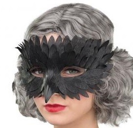 Raben Maske mit kurzem Schnabel