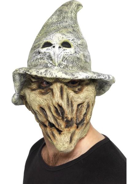Hexenmaske mit grauem Hut