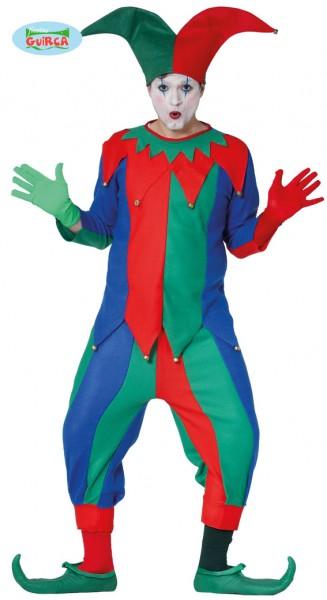 Clown/Hofnarr Kostüm Jester Größe 52-54