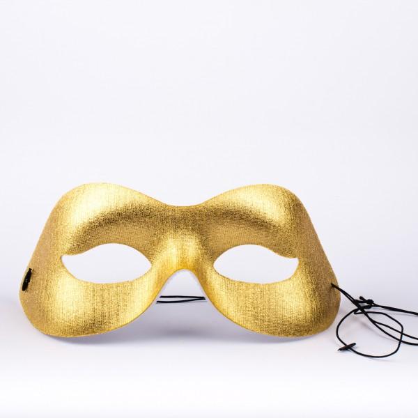 Augenmaske gold glänzend